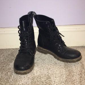 Chunky Black Combat Boots